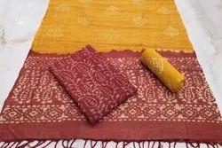 Unstiched Dress Material Cotton Batik Set