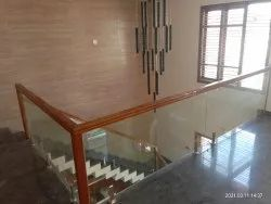 Wooden And Glass Railings