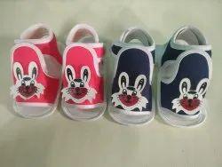 Blue Red Newborn baby fancy sandals, Size: 0 Size