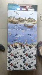 Kajaria White Ceramic Bathroom Tiles, Size: 60 * 120 In cm, Thickness: 5-10 mm