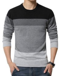 Round Neck Full Sleeves Mens Casual Sweater, Size: Large