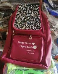 Plain Women Ladies Flap College Bag