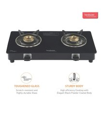 Black Hindware Brio Plus 2B Glass Cooktop, For Cooking, Size: 575x290x85 Mm