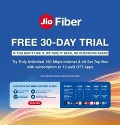 Jio Fiber Broadband Service Provider mathura, 1gbps
