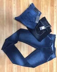 Casual Wear Faded Knitted Denim Jeans