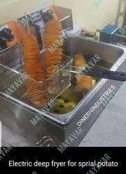 Spiral Potato Electric Deep Fryer