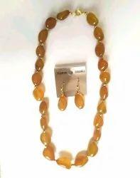 Onyx Necklace Earrings Set