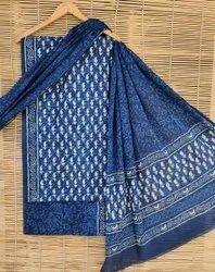 Bagru Hand Block Print Cotton Dress Material With Dupatta