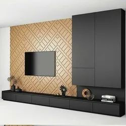 Wooden Tv Wall Unit, For Home