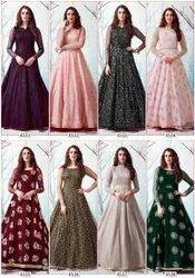 Party Wear Multicolor Gown