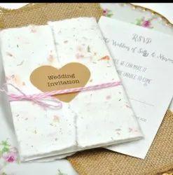Plantable Wedding Invitation Card, 1 Leaflet