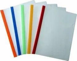 塑料什锦透明滑动杆文件夹,纸张尺寸:A4