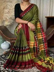 Border Exclusive Fancy Saree, 5.5 m (separate blouse piece)
