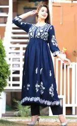 2 Piece And 3 Piece Collection Two Piece And Three Piece Sets Fancy Embroidered Indian Ladies Online Suits, Size: 38-44
