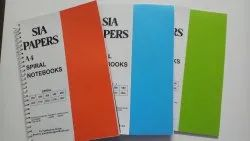 SIA PAPERS Single Line Neon Colour A4 Spiral 280 Pages Notebooks, Size: A4,A5