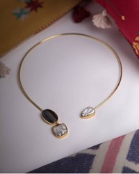 Handmade Golden Necklace set, Occasion: Wedding, Size: 18 Incg