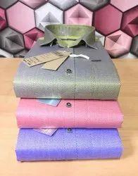 Cotton Blend Plain Mens Formal Shirts, Machine wash
