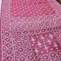 Sub Chanderi Silk Gujarati Hand Kantha Stitch Saree, .80cm, 6 M ( With Blouse Piece)