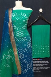 Jaipuri Sikri Jamnagri Rai Bandhej Multi Colour