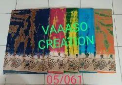 Printed Kota Cotton Saree, With Blouse