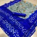 Handmade Bhandhni Silk Saree