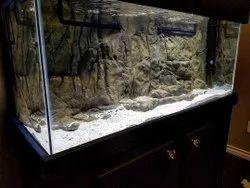 Rectangle Black Brown Grey Green Blah Aquarium Backdrops, For Indoor