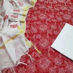 Kanchan Textiles Blue Ladies Dress Material