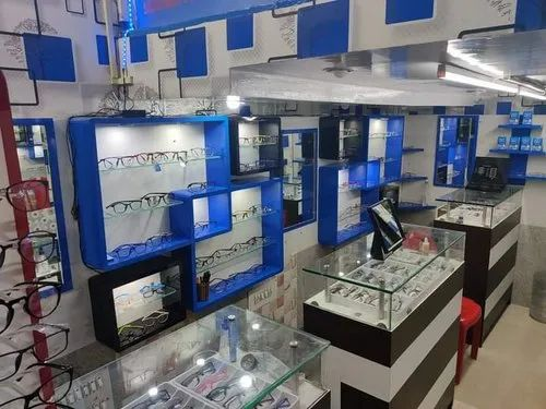 Showroom Interior Designing, Eye Clinic, Jewellery Shop