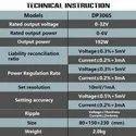 SIRON DC POWER SUPPLY 32V/6A
