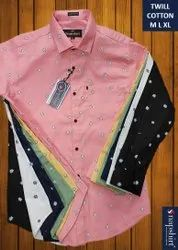 Party Wear Printed Mens Twill Shirt