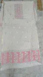 Kani Zari Pure Cotton Suit with Bottom and dupatta