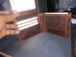 Brown Bi Fold Leather Wallets For Men, Card Slots: 7