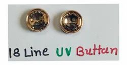 Golden Round Plastic UV Buttons, For Garments, Packaging Type: Packet