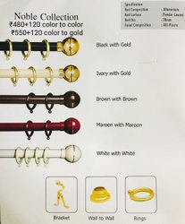 Brass Curtain Brackets
