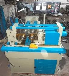 Iron Hydraulic thread rolling machine 2 roll 1 inch, Max Force Or Load: 0-30 ton, Automation Grade: Semi-Automatic