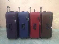 Nylon Trolly suitcase plain shell, Number Of Wheel: 2 Wheel, Size: 24 & 28