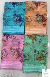 Ligalz Presents Linen Saree With Blouse