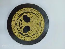 Black Stone Carving Plate
