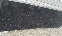 South India Black Pearl Granite Slab, For Countertops, Thickness: 15-20 mm