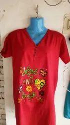 7 colors Ladies T Shirt, Size: 4 xl