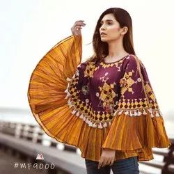 Cotton Embroidered Pancho, Size: Free Size