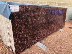 Polished Slab Panchalwada Brown granite, For Flooring, Thickness: 15-20 mm