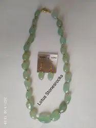 Aqua Onyx  Necklace Earrings Set