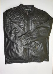 Nappa black leather jackets