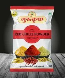 Guru Kripa 500 Gm Red Chilli Powder, Packaging Type: Packet