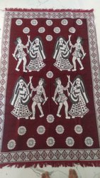 Square Red Chenille Carpet, For Home