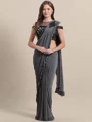Ladies Designer Ready To Wear Saree