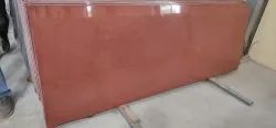 Polished Slab Lakha Red Granite, For Flooring, Thickness: 15-20 mm