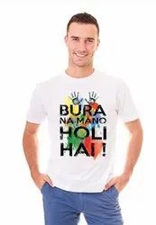 Liveup Poly and nylon and cotton Holi White TShirt, Size: 18 to xxl, Age Group: Kids To Adult