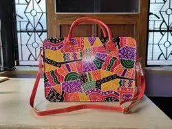 Multicolor Leather Laptop Bag